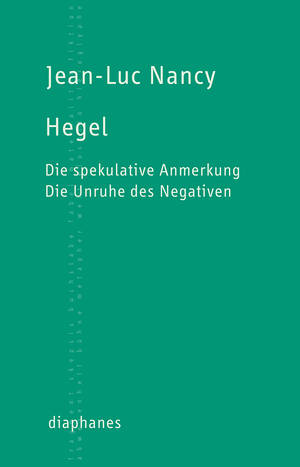 Jean-Luc Nancy: Hegel